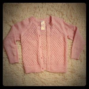 Pink toddler girls sweater. LIKE NEW!